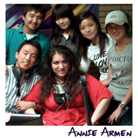 Annie Armen Mentors Korean Students